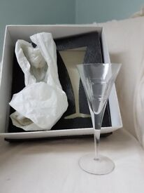 Brand new Tyrone Crystal champagne flutes