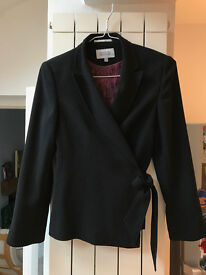Black suit/evening jacket with satin lining from Next, UK size 12