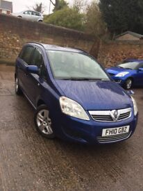 VAUXHALL ZAFIRA 10 PLATE 1.7CDTI 67K OWNED 6 YEARS **CHEAP**BLUE 7 SEATER LOW MILES