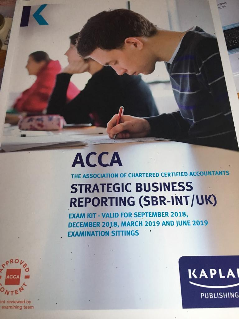 Kaplan SBR ACCA STUDY TEXT AND EXAM KIT   in Leicester, Leicestershire    Gumtree