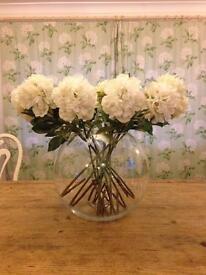 Vase & faux flowers
