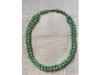 19 1/4 inch Jade bead necklace