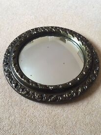 Vintage Antique Round Mirror - Very old lovely item