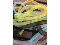 Flexible Mesh Tubing Ribbons in 7 colours and 2 thickness
