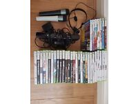 4GB Xbox 360 including games kinnect 2 controllers 2 microphones.