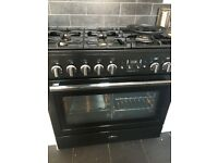 Rangemaster Professional +FX . 5 Gas hobs with Electric oven