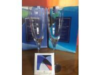 Dartington Glasses ( red, white wine, champagne, cherry)