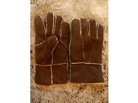 French Connection Mens Sheepskin Gloves M/L