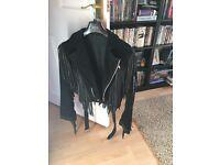 Heavy black suede jacket
