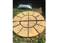 Patio circle slabs 1800 diameter