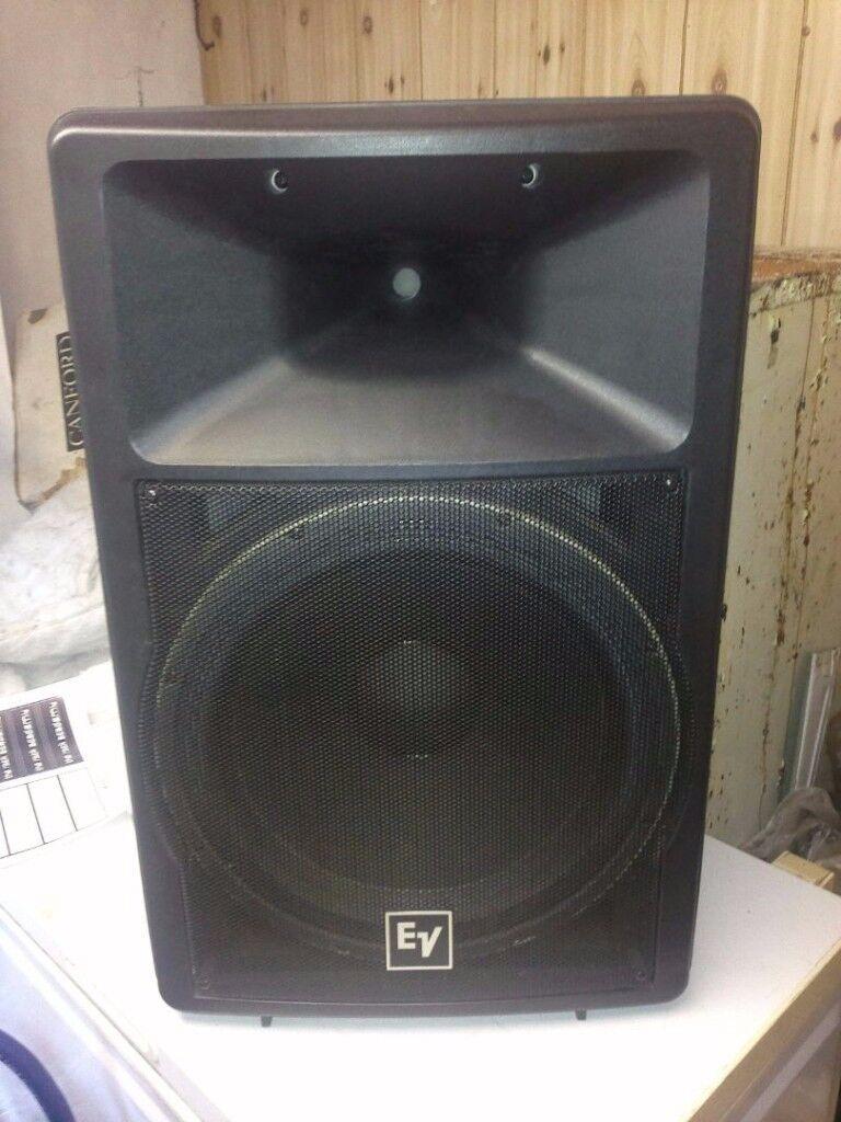 EV Full Range PA Speakers 1200w Pair