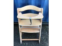 CLEARANCE wooden baby chair FREE DELIVERY PLYMOUTH AREA