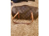 Pre owned authentic Luis Vitton papillon bag and matching purse