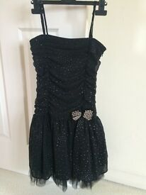 Girls black and silver party dress - Size 152cm