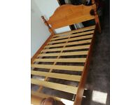 Supper King Size Wooden Bed with Mattress