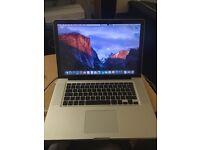 Apple Macbook Pro A1286 i7 2.66 ghz 8gb RAM 500gb hdd brand new battery