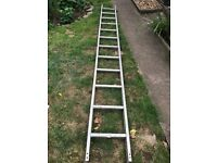 For sale 3.5 meter long ladder, slight dent on one as shown. Sale due to house move
