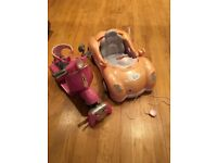 Baby Born car and RC motorbike