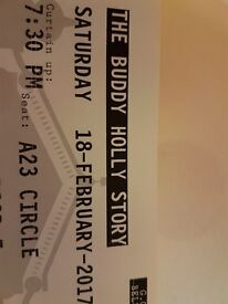 2 Tickets for The Buddy Holly Story GOH Belfast