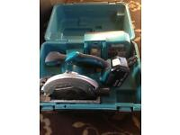 Makita 18v saw 3ah battery and charger in good condition