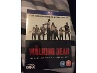 Walking dead season one and two blu-ray