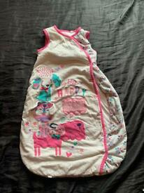 Baby girls sleeping bag 0-6 months
