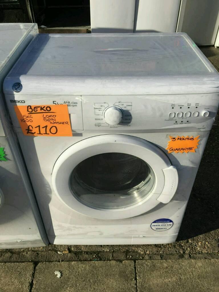 BEKO 5KG 1000 SPIN WASHING MACHINE IN WHITE