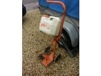 Stihl stone saw cart to make your saw a road cutting saw