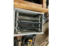 Network cabinet including tp link and more