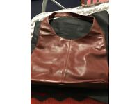 REAL LEATHER HANDBAG BROWN FROM ITALY SHOULDER BAG COMES IN PROTECTOR BAG