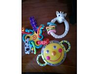 Selection of 6 used teething toys