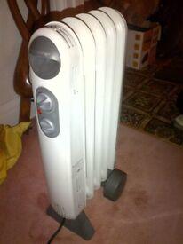 1kW oil filled radiator heater