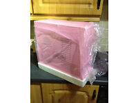 Computer ATX Tower Case Pink . PC ATX Case . Boxed as New . 4 Bay PC Case - For PC motherboard
