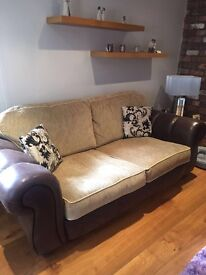 2 x Part Leather Sofas For Sale £199 for both