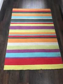 Rug wool striped one side, grey the other! £5 bargain