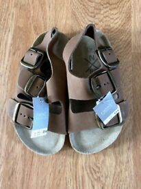 Brand New with tags, Next Brown Sandals Size 9 (infant)