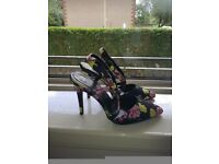 Stunning floral high heeled shoes