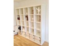 Free-standing large Expedit shelf/room divider
