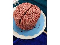 Halloween red velvet brain cake