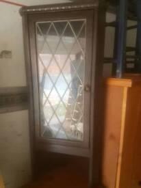 Cabinet - Glass Door and 2 Inner Wooden Shelves Display Cabinet