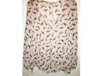 Size 20 - Next Nude Blouse with Dragonfly Detail.