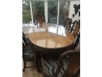 Stunning period table and 6 chairs imperial dynasty