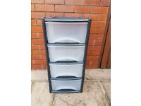 Drawers - 4 drawer unit - As new - Indoor or outdoor use. BARGAIN