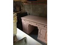 pretty victorian pine desk