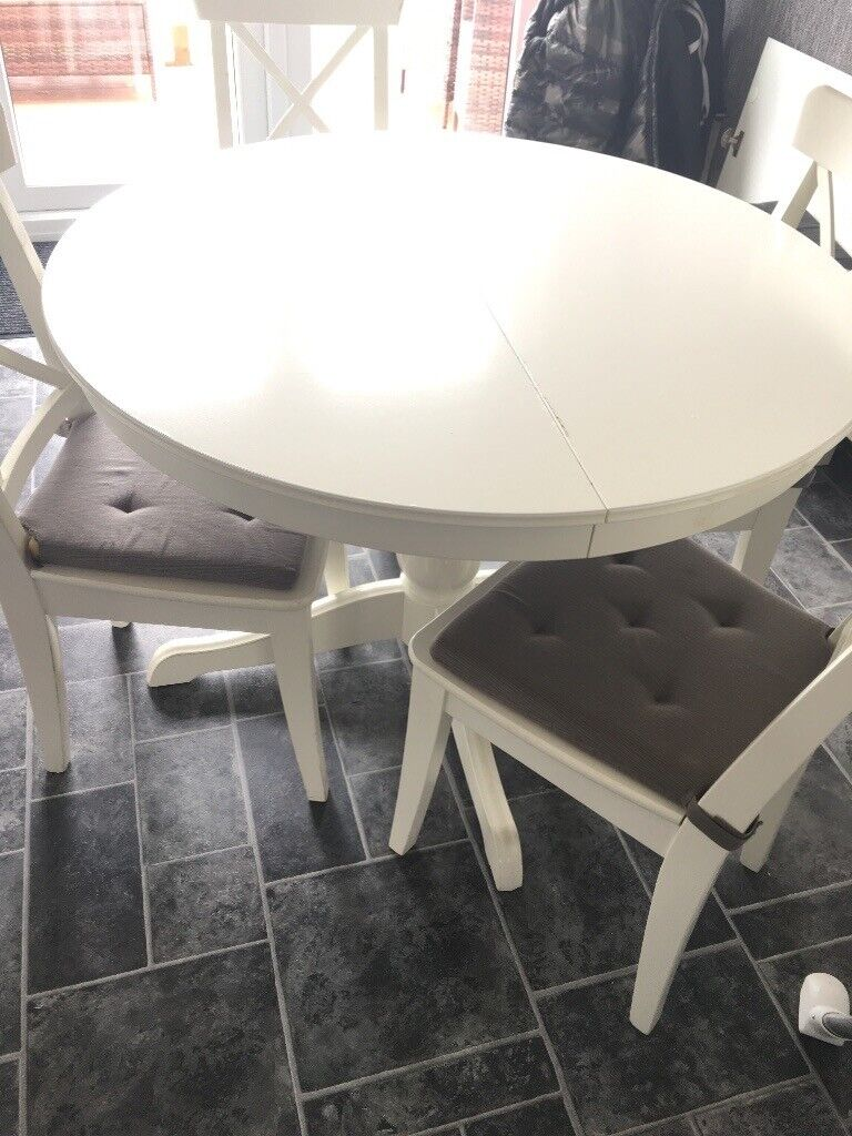 Surprising White Dining Room Table And Chairs Ikea Evergreenethics Interior Chair Design Evergreenethicsorg