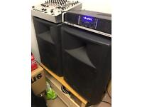 """15"""" Passive KAM DJ/Band PA System Speakers + free Behringer Mixer // TRADES"""