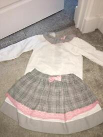 Grey and pink Spanish outfit age 4