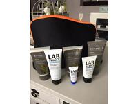 Men's Botanics/LAB series face care set in wash bag brand new