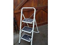# STEP LADDERS 3 RUNG CAN BE FOLDED FOR STORAGE £5 #