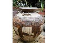 Stunning patterned terracotta pot. £50.58cm high x 45cm wide